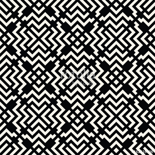 500x500 Seamless Geometric Square Lines Design Trippy Vector Pattern