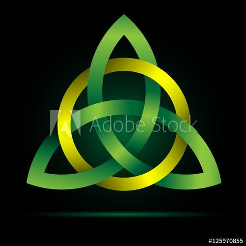 500x500 Triquetra. Celtic Trinity Knot. Traditional Irish Cross Christian