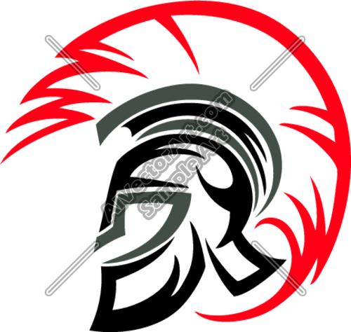 500x474 Trojan Helmet Clipart And Vectorart Sports Mascots