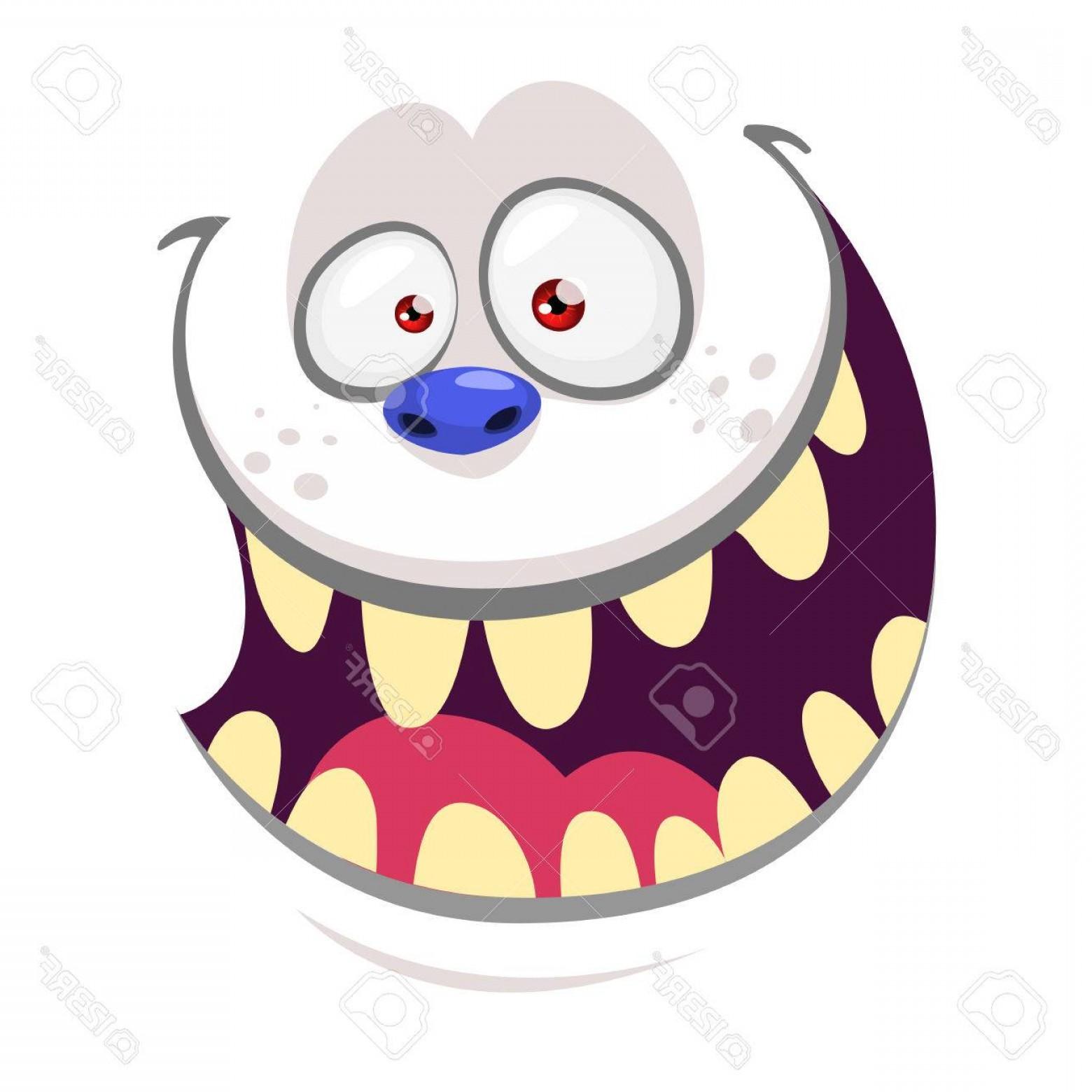1560x1560 Photostock Vector Cartoon Monster Yeti Face Isolated On White