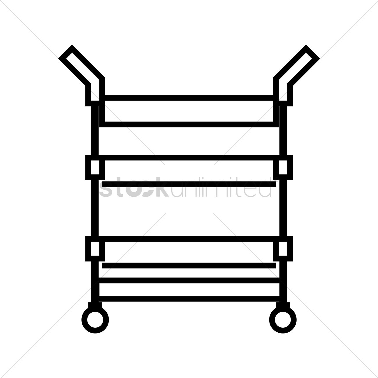 1300x1300 Food Trolley Vector Image