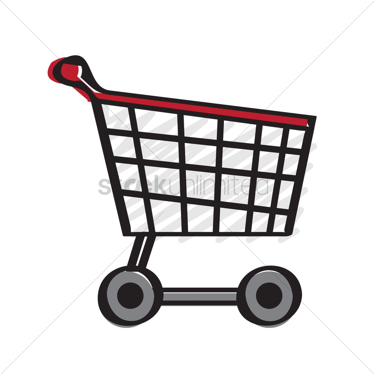 1300x1300 Illustration Of A Trolley Vector Image