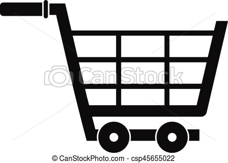 450x321 Large Shopping Trolley Icon, Simple Style. Large Shopping Trolley