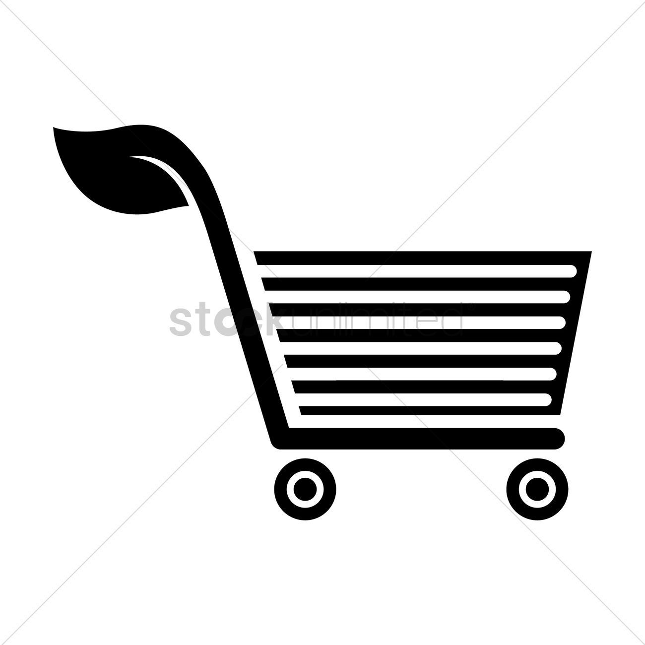 1300x1300 Silhouette Of Trolley Vector Image