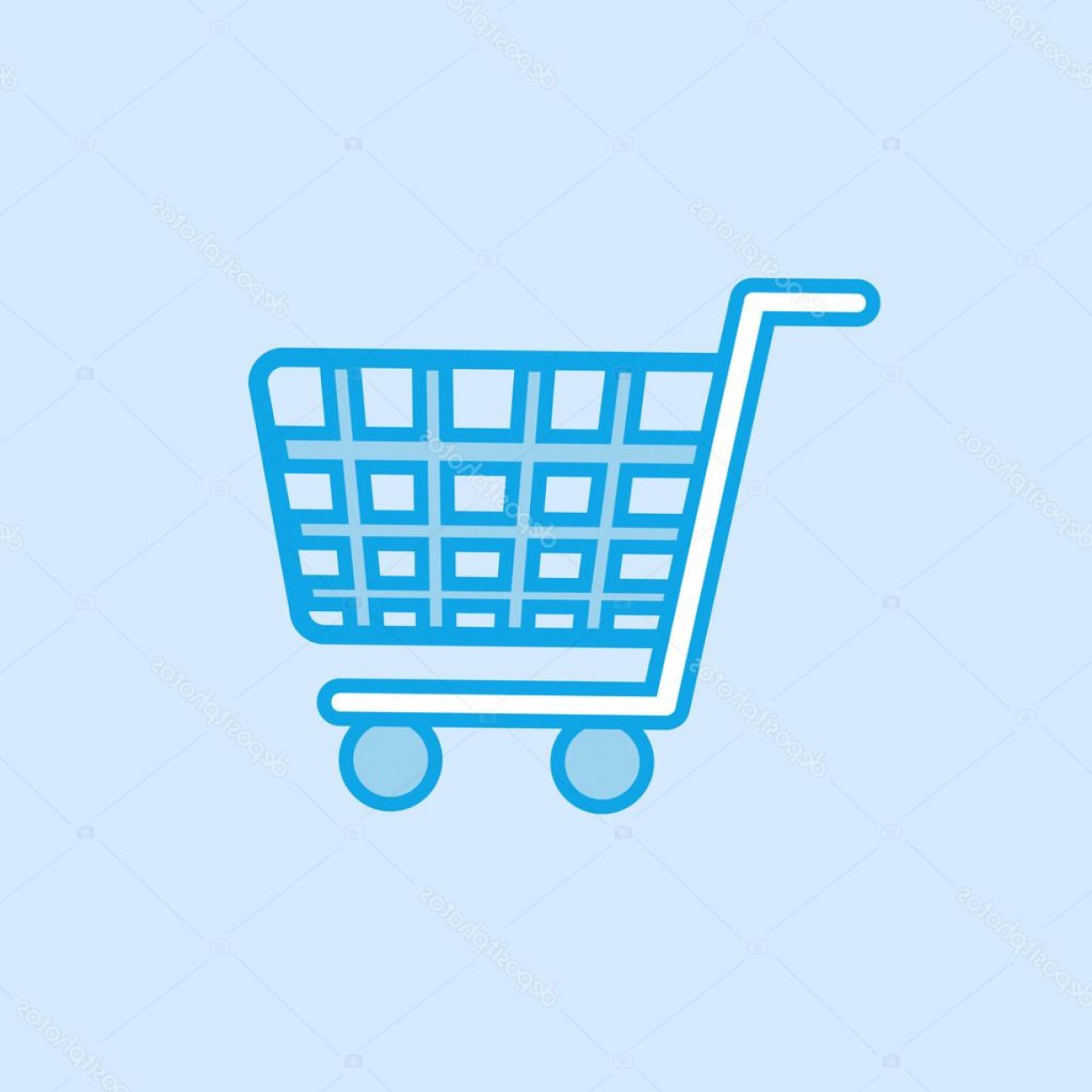 1228x1228 Stock Illustration Shopping Trolley Vector Icon Simple Shopatcloth