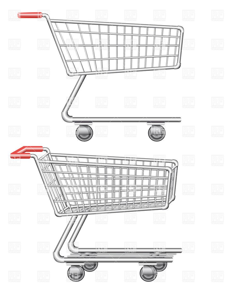 960x1200 Supermarket Metal Shopping Trolley Vector Image Vector Artwork