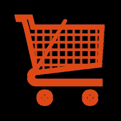 500x500 Supermarket Trolley Vector Icon Public Domain Vectors