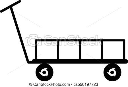 450x304 Big Trolley Icon, Simple Black Style. Big Trolley Icon. Simple