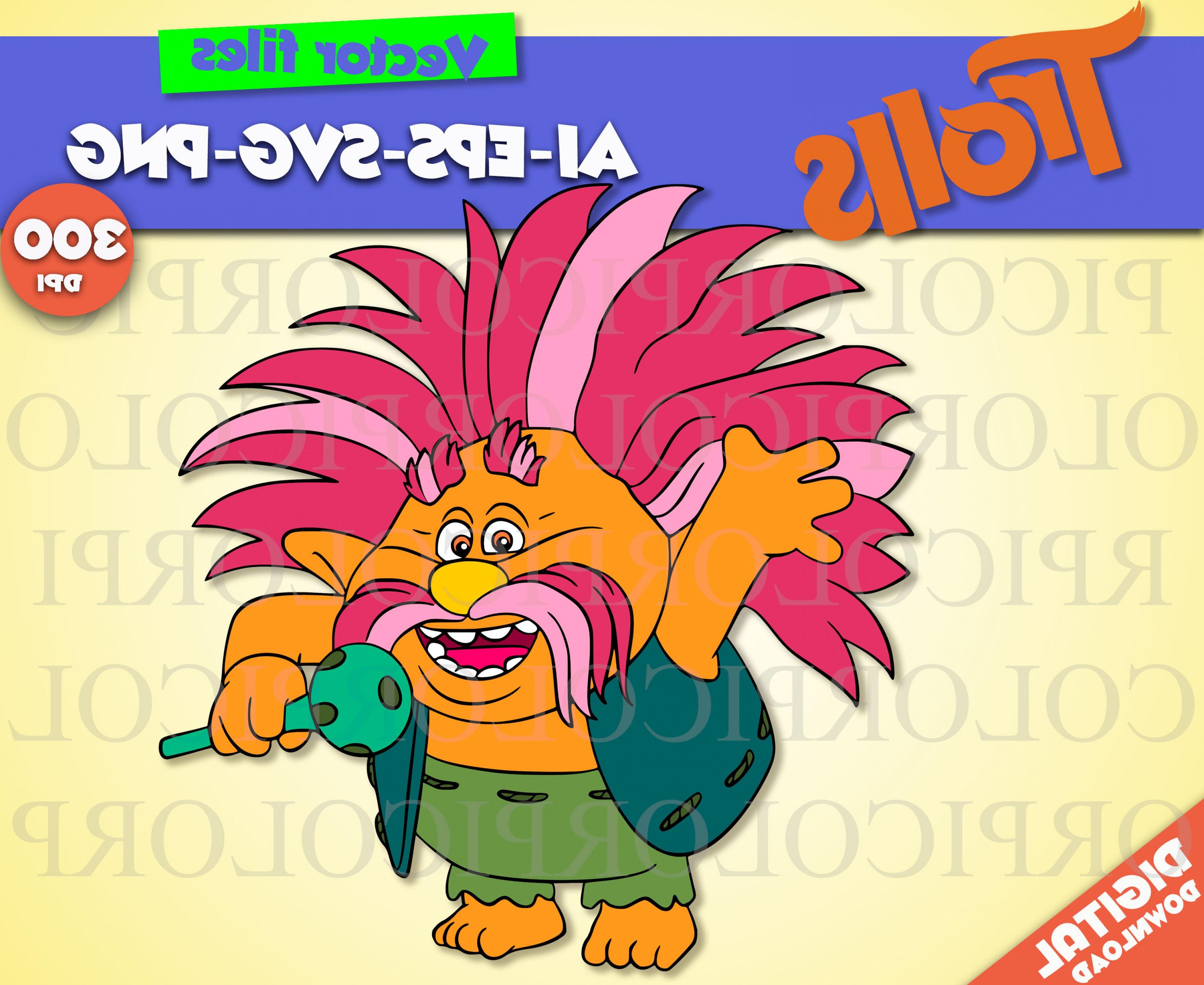 3578x2929 King Peppy Svg Trolls Clipart Trolls Geekchicpro