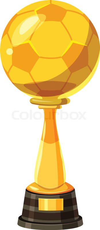 348x800 Golden Soccer Trophy Cup Icon. Cartoon Illustration Of Golden