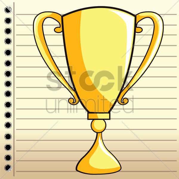 600x600 Trophy Cup Vector Image