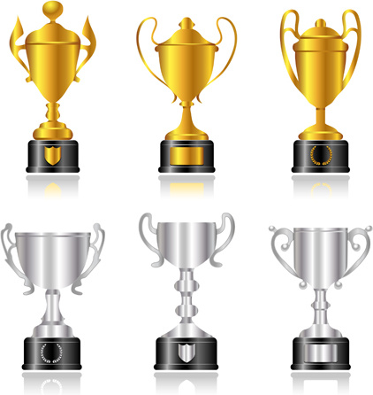 422x446 Trophy Cup And Medals Vector Set Free Vector In Encapsulated