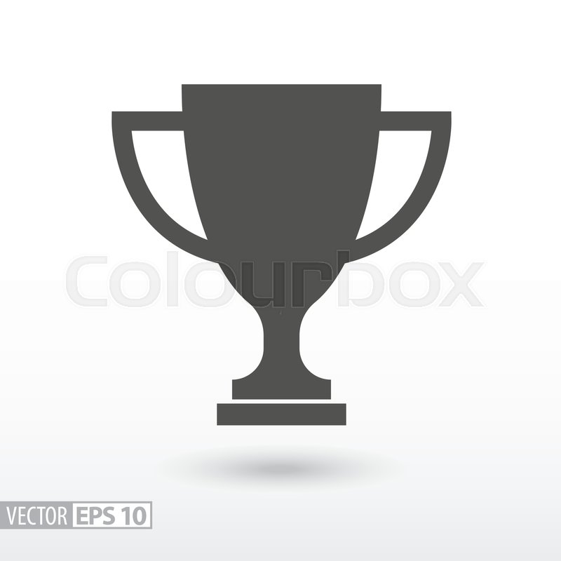 800x800 Champions Cup Flat Icon. Sign Trophy Cup. Vector Logo For Web