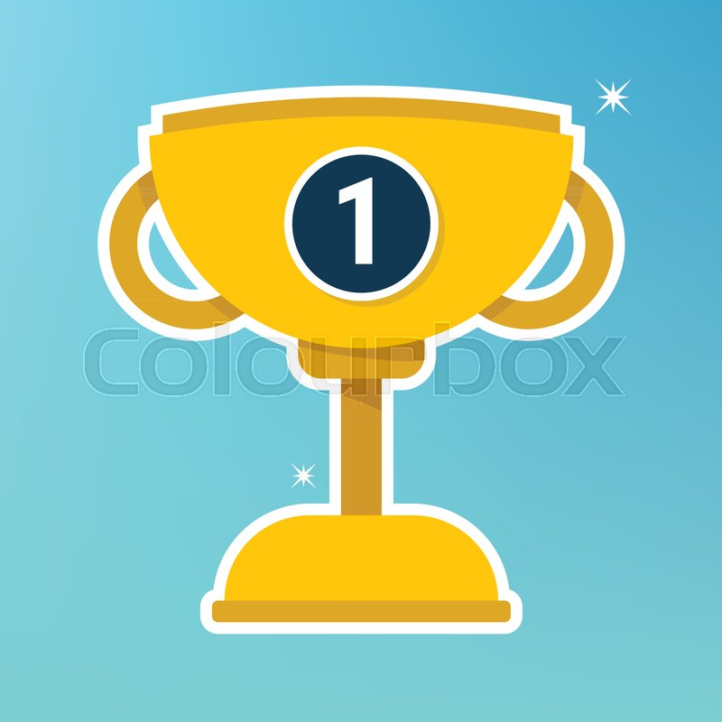 800x800 Vector Trophy Cup Flat Icon, Gold Cup. Stock Vector Colourbox