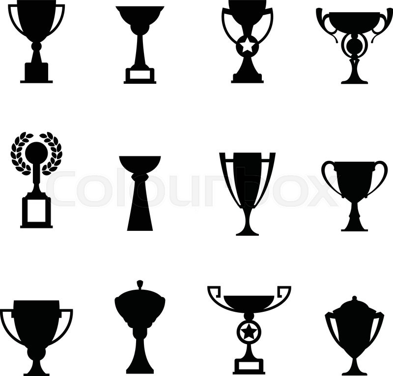 800x767 Vector Winner Cup. Trophy Flat Icon Set Stock Vector Colourbox