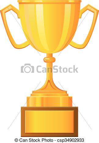 324x470 Cup Trophy Vector Icon. Vector Illustration Of A Cup Trophy.