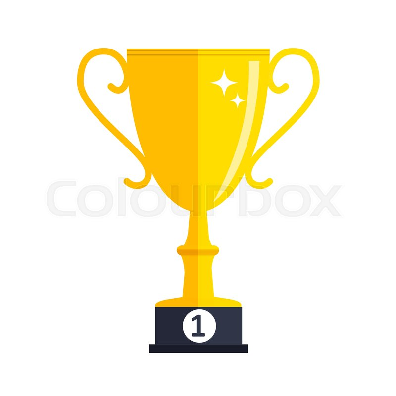 800x800 Concept On Success. Gold Trophy Cup Award Icon. Vector