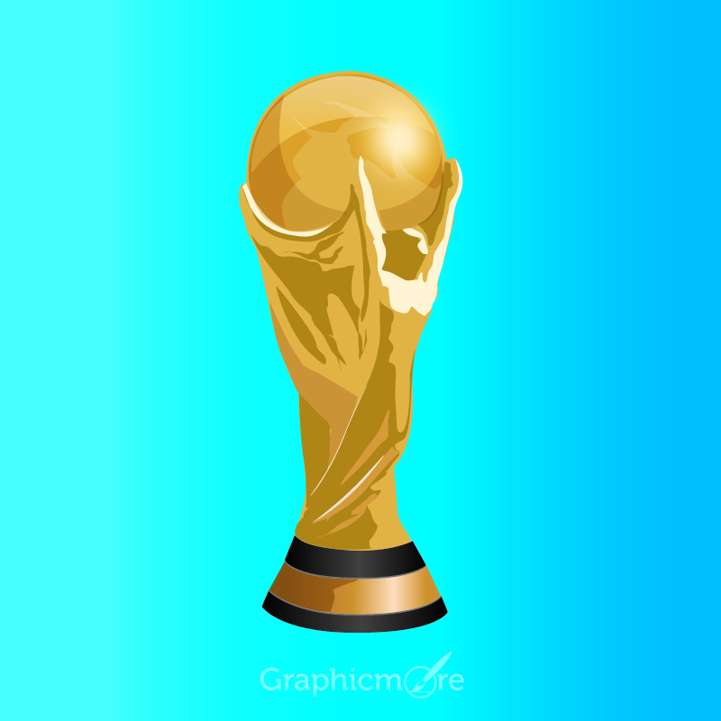800x800 Football World Cup Trophy Free Vector File Download
