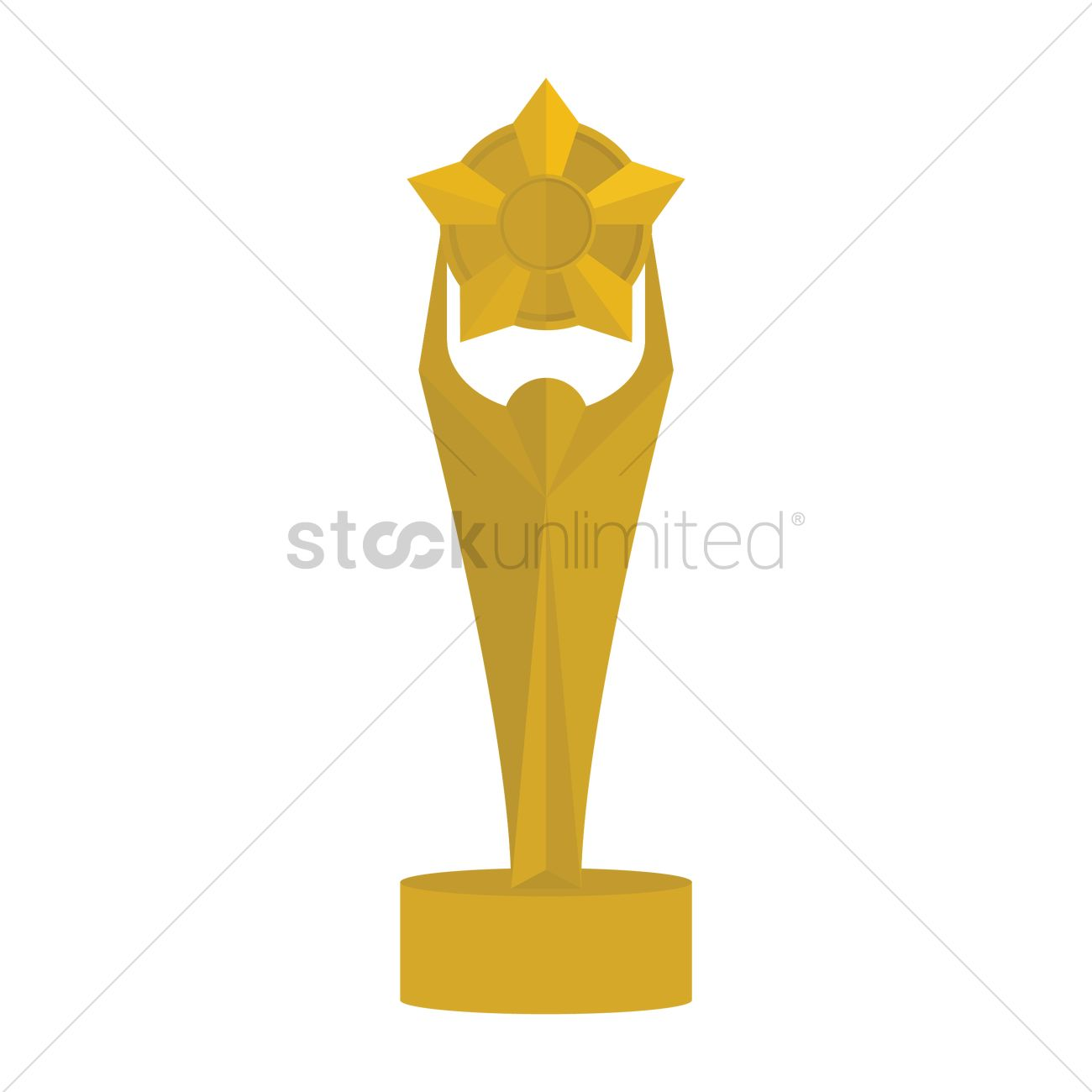 1300x1300 Free Star Trophy Vector Image