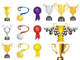 310x233 Gold And Silver Trophy Vector Free Vectors Ui Download