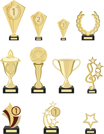 423x546 Gold Trophy Collection Vector Material 03 Free Download
