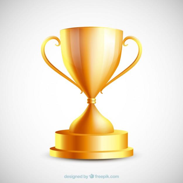 626x626 Golden Trophy Vector Free Download