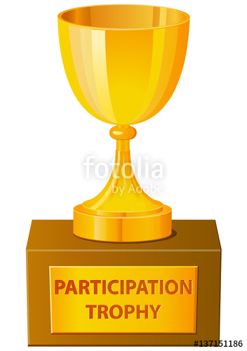 352x500 Participation Trophy Vector In 3d Stock Image And Royalty Free