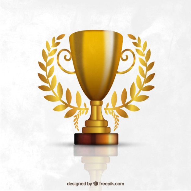626x626 Trophy Made Of Gold Vector Free Download