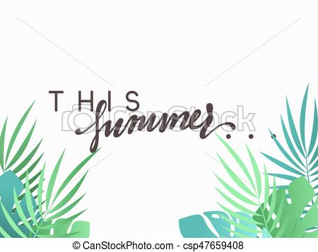 450x357 Hello Summer Banner Tropical Background. Summer Season, Design