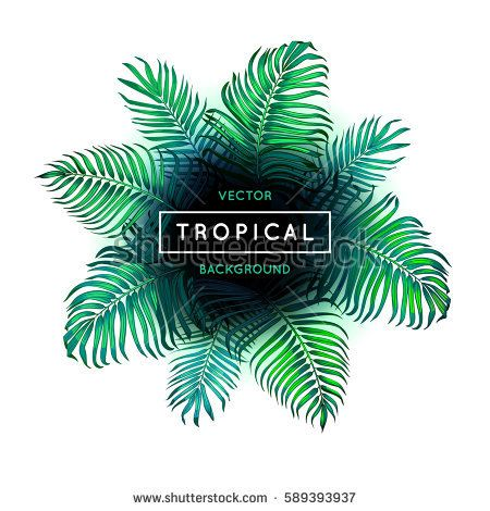 450x470 Tropical Background Vector Abstract Tropical Summer Background