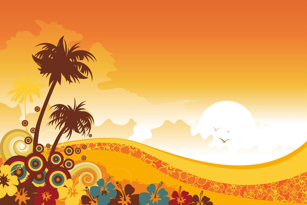 1024x683 Tropical Background Vector Art Amp Graphics