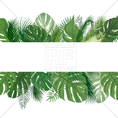 400x400 Tropical Leaves Seamless Background Or Frame Royalty Free Vector