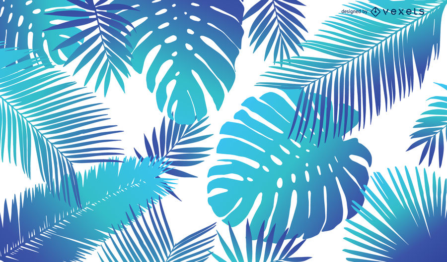 900x529 Bright Tropical Leaves Background