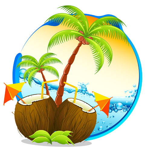 500x500 Tropical Elements Backgrounds Vector 03 Free Download
