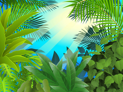 492x368 Vector Tropical Seamless Background Free Vector Download (49,189