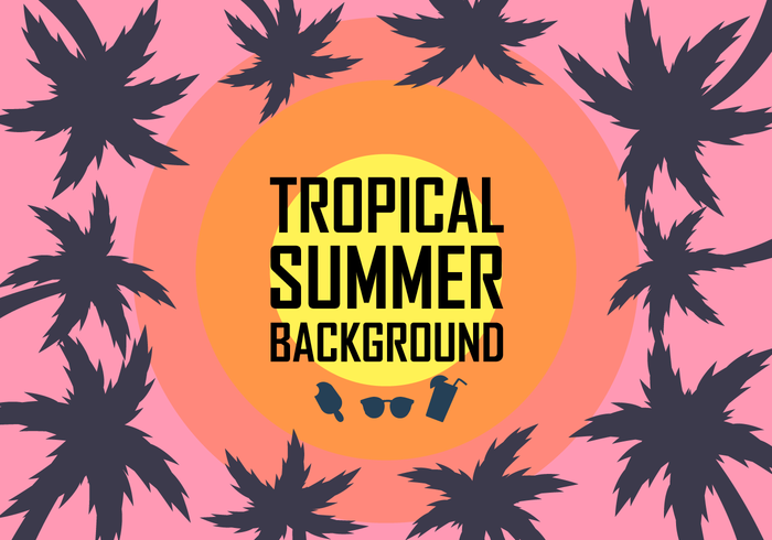 700x490 Free Tropical Background Vector