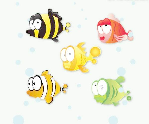 600x499 Lovely Tropical Fish Vector Free Download Eps Files
