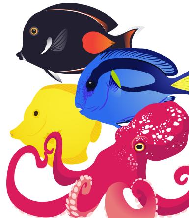 385x445 Tropical Fish