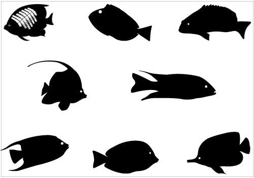 500x350 Tropical Fish Clipart Svg
