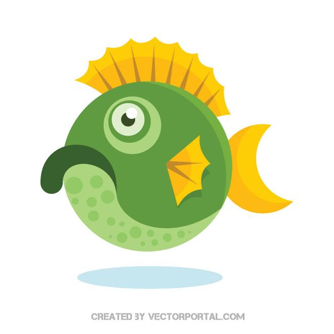 660x660 Tropical Fish Vector Clip Art