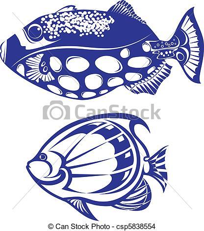 416x470 Tropical Fish. Set