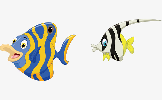 650x400 Cartoon Tropical Fish, Vector Tropical Fish, Tropical Fish