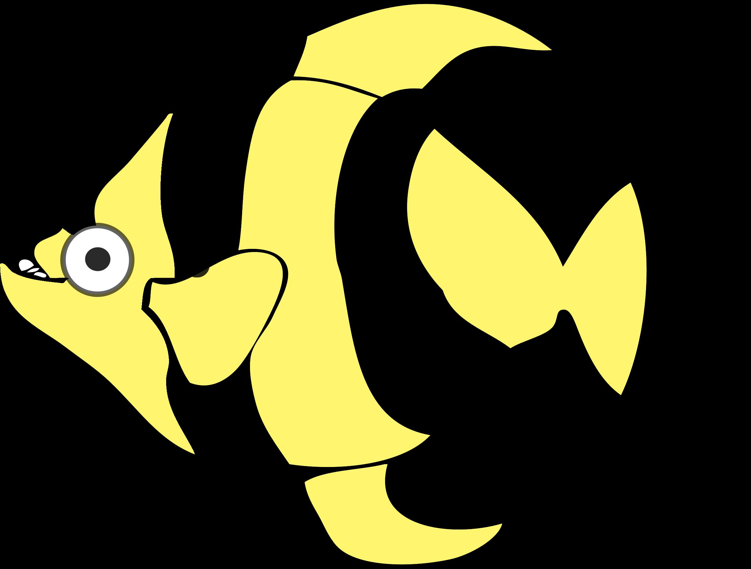 2391x1813 Cartoon Tropical Fish Vector Clipart Image