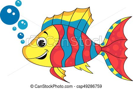 450x302 Cute Tropical Fish. Adorably Cute Little Striped Tropical Fish