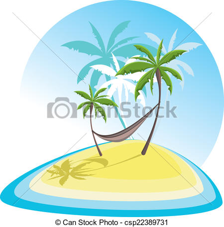 450x457 Simple Illustration With Tropical Island Vectors