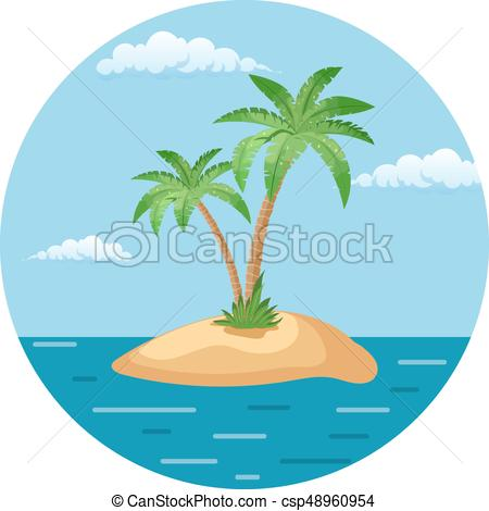 450x470 Summer Landscape Of The Tropical Island In The Ocean With Palm