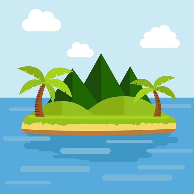 640x640 Tropical Island, Island Vector, Island, Sea Png And Vector For