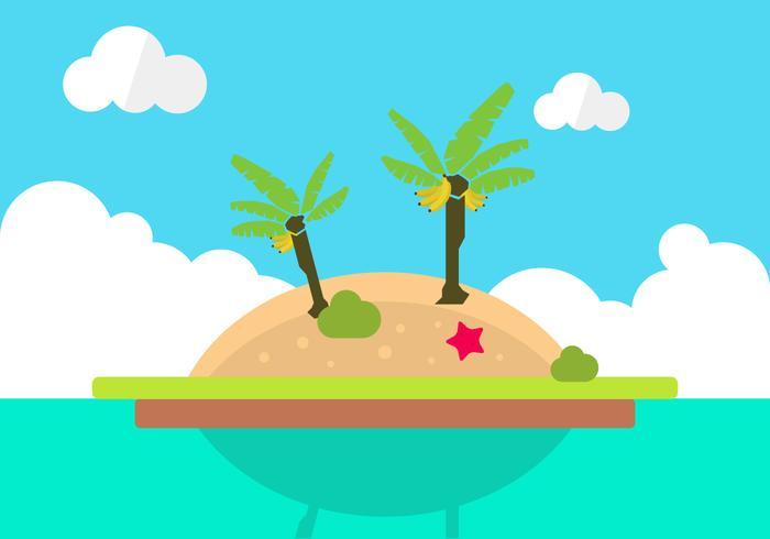 700x490 Tropical Island Free Vector Art
