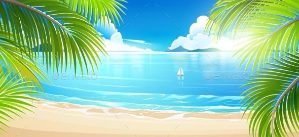 590x271 Tropical Island. Vector By Baks