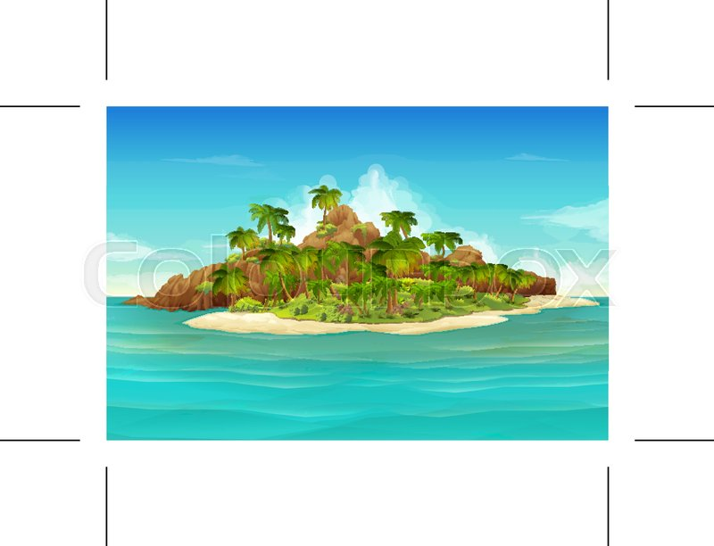 800x612 Tropical Island, Vector Background Stock Vector Colourbox